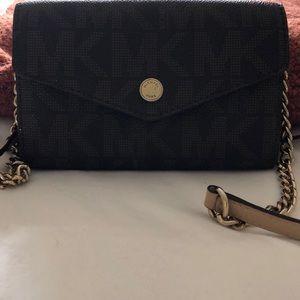 Michael Kors saffiano crossbody wallet bag